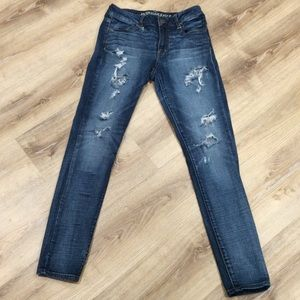 American Eagle Outfitters Tattered Denim Jeggings